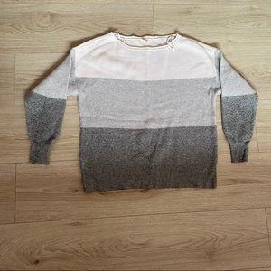 Garage stripped sweater